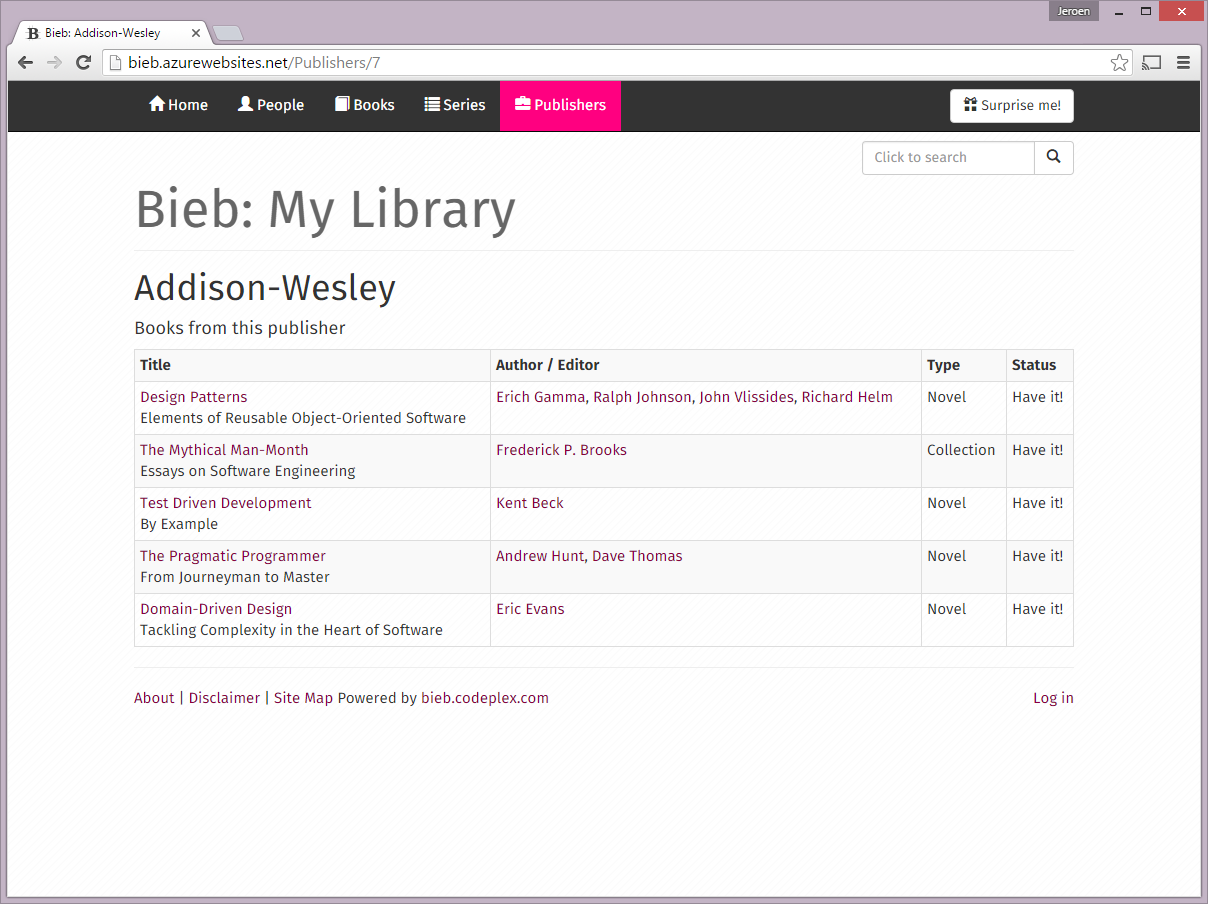 Bieb - Publisher Details - LG View