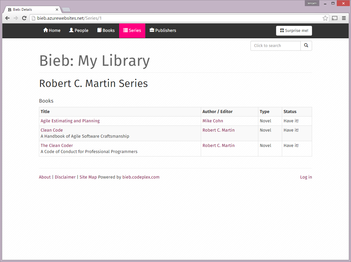 Bieb - Series Details - LG View